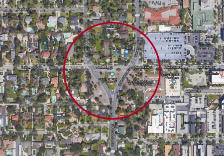 Google Map-Pasadena CA -(Fork In The Road)